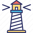 beacon, lighthouse, nautical tower, seamark icon