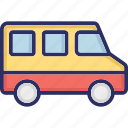 bus, coach, public transportation, travel icon