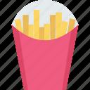 french fries, fries box, potato fries, frites, french fries box icon