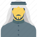 arab man, arabian, arabic, kandura, muslim icon