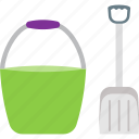 agriculture, bin, cleaning, dustbin, shovel icon