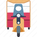 auto, automobile, rickshaw, transport, travel icon