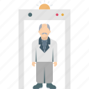 airport security, body scanner, detector gate, scanner gate, security scanner icon