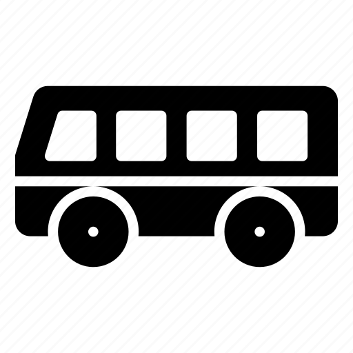 automobile, bus, transport, travel, vehicle icon