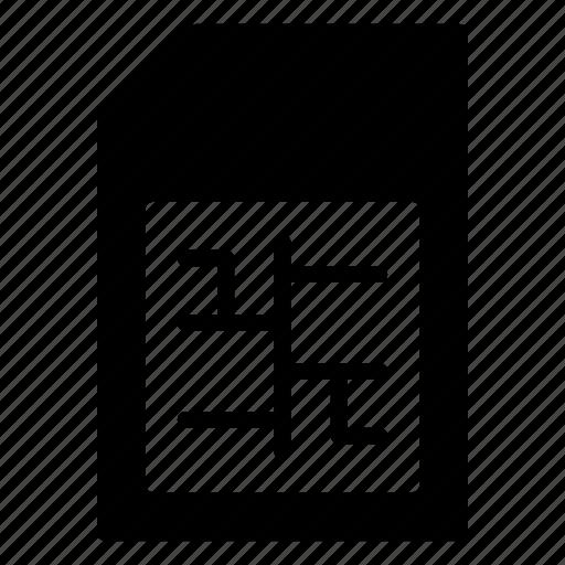 card, chip, mobile, sd, sim icon