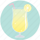beverage, cocktail, drink, lemon, lemonade, summer, yellow icon