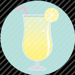 beverage, cocktail, drink, lemon, lemonade, summer, yellow icon