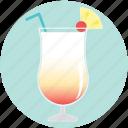 alcohol, beverage, cocktail, drink, juice, pina colada, summer icon