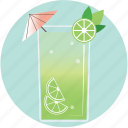alcohol, beverage, cocktail, drink, mojito, pool, summer icon