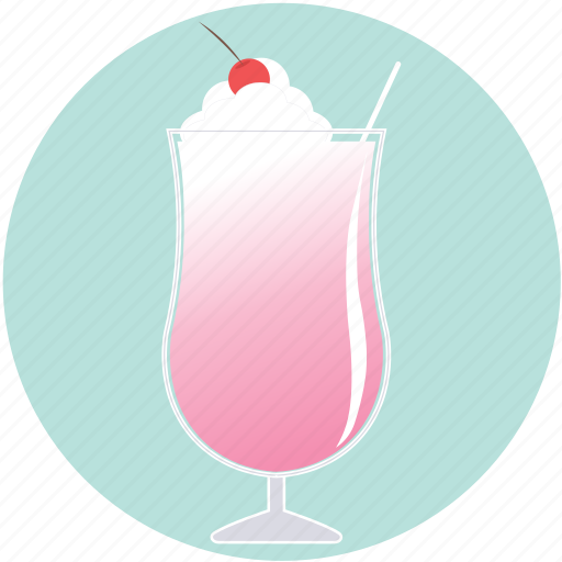 cocktail, daiquiri, drink, ice cream, milkshake, pink, summer icon