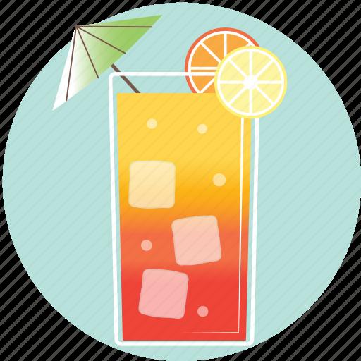 beverage, cocktail, drink, lemon, long island, orange, summer icon