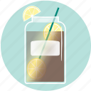 beverage, drink, iced tea, lemon, mason jar, sumerdrink, summer icon