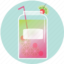 beverage, cherries, drink, lime, mason jar, sumerdrink, summer icon