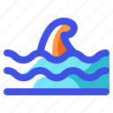 holiday, nature, summer, travel, vacation, wave icon