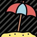 beach, holiday, season, summer, travel, umbrella, vacation icon