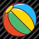 ball, beach, play