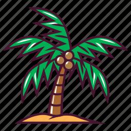 coconut, fruit, tree icon