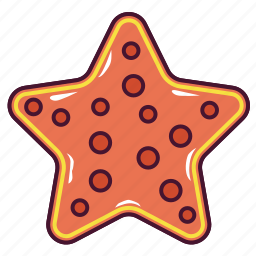 animal, beach, star, starfish icon