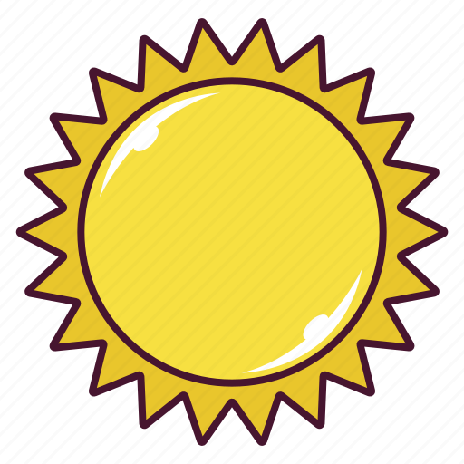 day, hot, summer, sun, weather icon