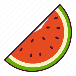 fresh, fruit, watermelon icon