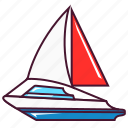 boat, sail, sea, ship, yacht icon