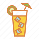 alcohol, beach, cocktail, drink, summer, vacation icon