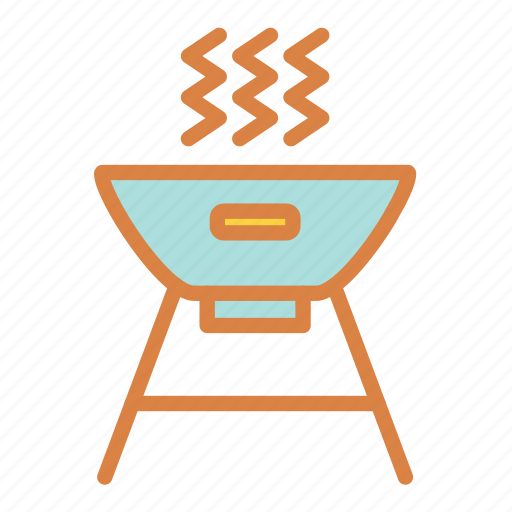 beach, cook, food, grill, summer, vacation icon