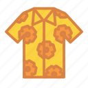 beach, clothing, hawaiian, shirt, summer, vacation icon