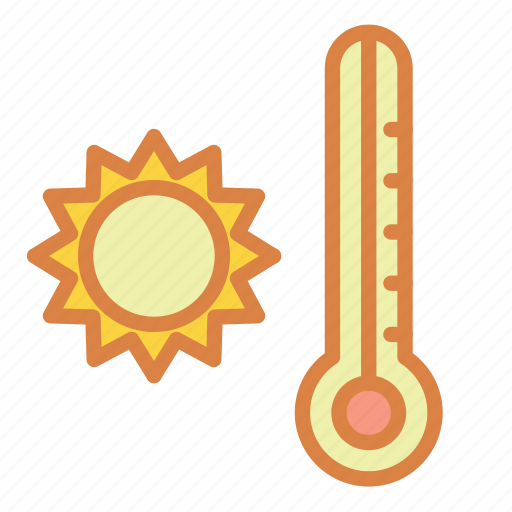 beach, hot, summer, sun, thermometer, vacation icon