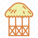 architecture, beach, hut, paradise, summer, vacation icon