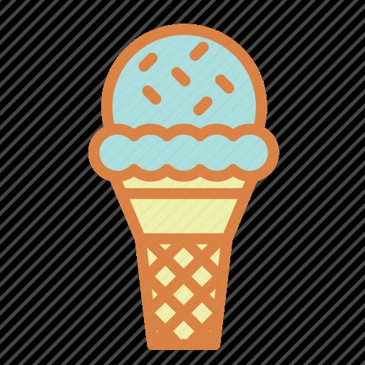 beach, cream, dessert, ice, summer, vacation icon