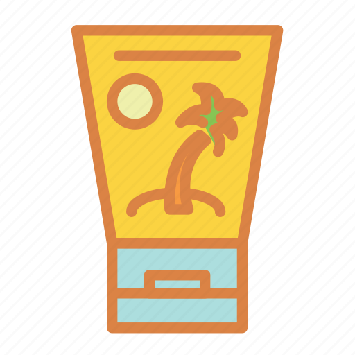 beach, lotion, summer, sunscreen, tanning, vacation icon