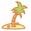 beach, coconuts, island, palm, summer, tree, vacation icon