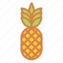 beach, fruit, pineapple, summer, tropical, vacation icon