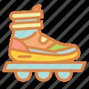 athletic, beach, rollerblades, skates, summer, vacation icon
