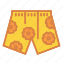 beach, floral, shorts, summer, swim, trunks, vacation icon
