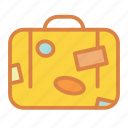 beach, suitcase, summer, travel, vacation icon