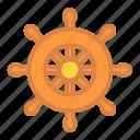 beach, ship, summer, travel, vacation, wheel icon