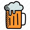 alcohol, beer, beverage, cold, drink, mug, party icon