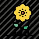 bloom, blossom, flower, nature, spring, summer, sunflower icon