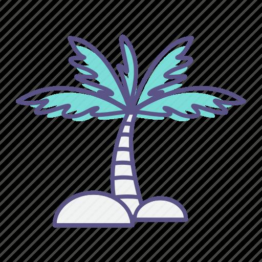 beach, coconut, palm, sea, summer, tree icon