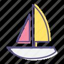 cruise, nautical, sailboat, sea, ship, vessel, yacht