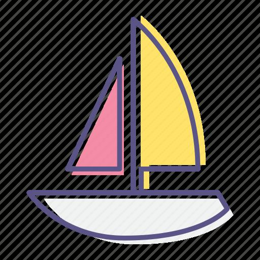 cruise, nautical, sailboat, sea, ship, vessel, yacht icon