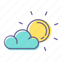 cloud, hot, summer, sun, sunny, weather icon