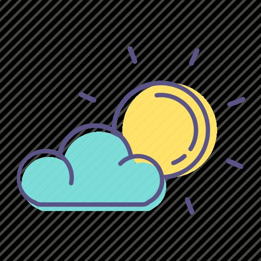 cloud, hot, summer, sun, sunny, weather icon