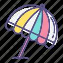 beach, coast, parasol, protection, sea, sunshade, umbrella