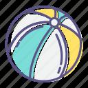 ball, beach, beach ball, fun, play, summer, toy icon