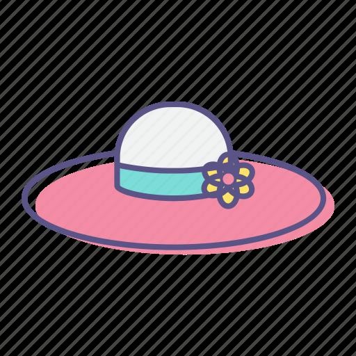 accessory, beach, fashion, hat, summer, sun, vacation icon