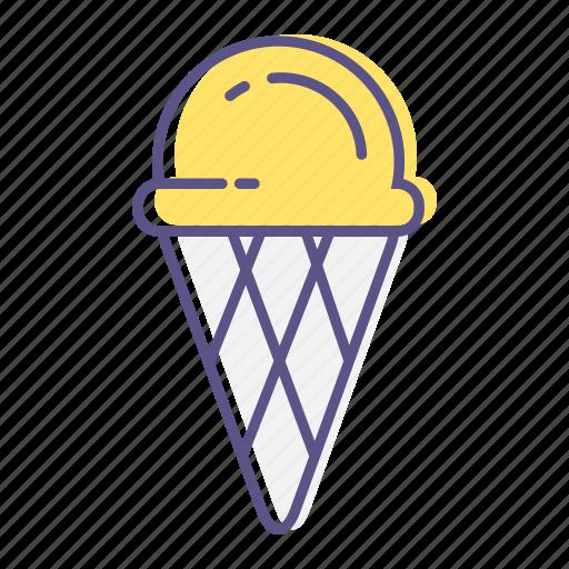 cone, dessert, ice-cream, icecream, summer, sweet, waffle icon