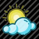 forecast, weather, summer, sun, cloud